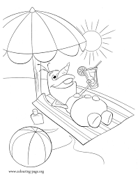 Summer Frozen Olaf Coloring pages for kids