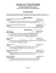 Cpr Certification Resume