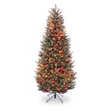 75 Douglas Fir Artificial Christmas Tree by 7 5 Ft Dunhill Fir Hinged Pre Lit Christmas Tree Dual Color Led