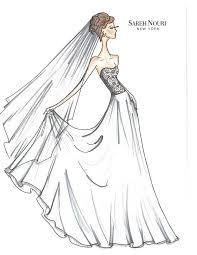 Wedding Dresses Drawing Photo From Sketch To Gown Dress Designer Sketches Sareh Nouri 650 X