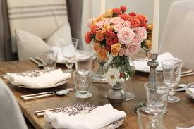 Beautiful Centerpieces For Dining Room Table by Dinner Table Arranged Ideas With Flowers And Candles Flower