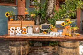 Rustic Wedding Decorations Usa Cafe Davinci Sunflower Inspiration On The Celebration Society