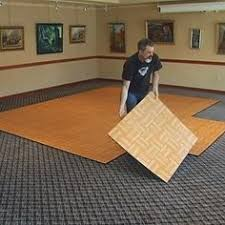 Portable Dance Floor Tile 9 Tiles Outdoor 3x3 Installation