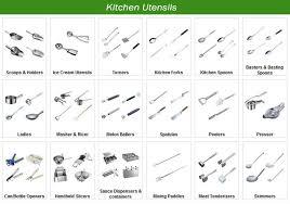 noms d ustensiles de cuisine restaurant stainless steel kitchen tools kitchen utensils liste