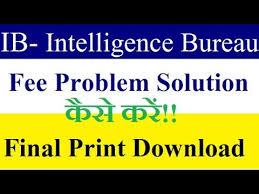 solution bureau ib intelligence bureau ii fee problem solution or print