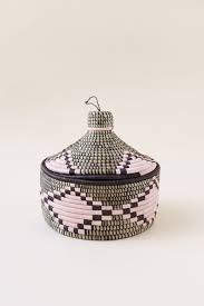 100 Indego Pearl Africa Marrakech Geometric Woven Basket Garmentory