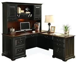 Bush Cabot L Shaped Desk Office Suite by Desk Bush Furniture Cabot 60 In L Shaped Desk With Hutch Harvest