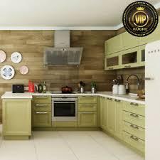 details zu moderne landhausküche marinara massivholz küche u form grün meterpreis