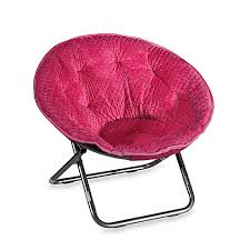dotted plush saucer chair pink bed bath beyond
