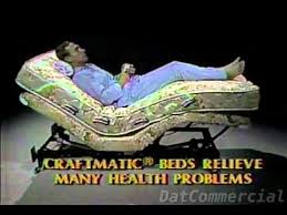 craftmatic adjustable bed commercial 1985 youtube