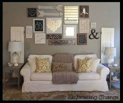 Decorating Living Room Walls Decor Rustic Farmhouse Style Taller Wall Over Sofa My
