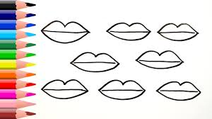How To Draw Lips Coloring Pages For Children And Toddlers
