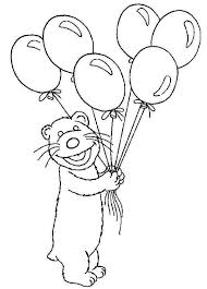 Tutter Bring Bear Inthe Big Blue House A Lot Of Balloons Colouring