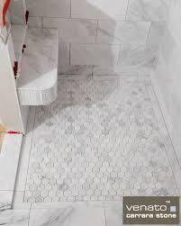Faux Marble Hexagon Floor Tile by Best 25 Shower Floor Ideas On Pinterest Master Shower Master