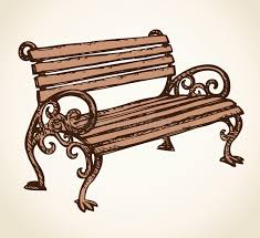 Park bench Vector drawing stock vector Image of decoration