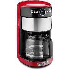 KitchenAid 14 Cup Empire Red Programmable Coffee Maker