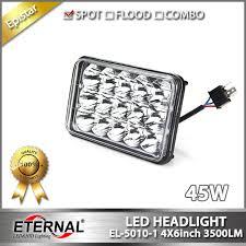 10pcs high power 45w led headlight 6054 universal 4x6in led