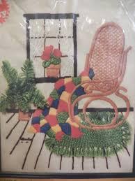 Frosted Pumpkin Stitchery Kit by Vintage 1980 Embroidery Crewel Stitchery Kit By Mcneil