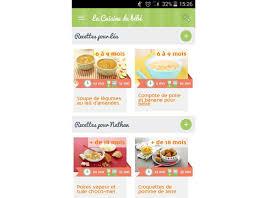 recette de cuisine pour bébé la nouvelle application mobile la cuisine de bébé cuisine de