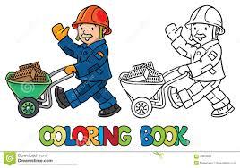 Coloriage Travailleur De La Construction Avec Un Rouleau à