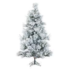 Fraser Fir Artificial Christmas Tree by Fraser Hill Farm Ffsn090 5sn 9 Ft Flocked Snowy Pine Christmas