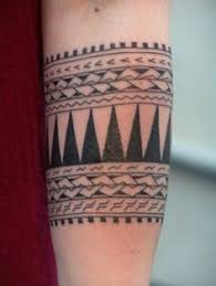 Wide Tribal Band Tattoo Designs