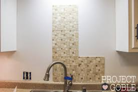 how to install a peel stick mosaic tile kitchen backsplash