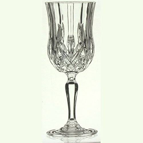 RCR Royal Crystal Rock Crystal Cut Opera Red/White Wine Glasses, Set of 6 16cl,5.50oz