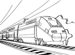Coloriage Train TGV à Imprimer Et Colorier