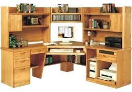 desk bush cabot corner computer desk with hutch in espresso oak