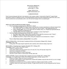 Php Developer Resume Template 19 Free Samples Examples Format Resumes