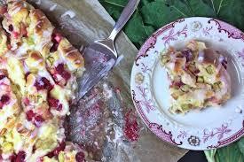 rhabarber himbeer vanille kuchen eine leckere klebrige