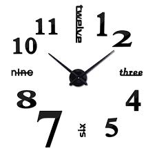 2017 New Arrival Quartz Diy Modern Clocks Needle Acrylic Watches Big Wall Clock Mirror Sticker Living