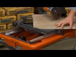 Ridgid 7in Tile Saw With Laser by Ridgid Tile Saw For Pros The Home Depot Youtube