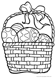 Easter Egg Basket Color Page Holiday Coloring Pages Plate Sheet