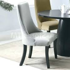 High Back Leather Dining Room Chairs With Comfy Upholstered Light Grey