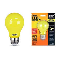 buy the feit electric a19 bug led non dimmable led yellow bug