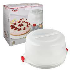 dr oetker 1013 38 5 x 19cm bake go kuchen transportbox kuchenbox aufbewahrungsbox