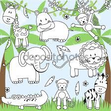 Imagenes De Animales Del Zoologico Para Colorear