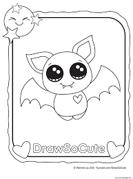 Halloween Bat Draw So Cute Coloring Pages Print Download 135 Prints
