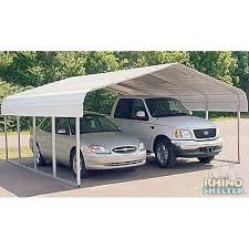 Rhino Shelter 2 Car Steel Carport 22 Wx24 Lx12 H