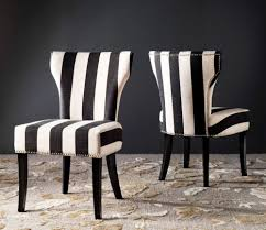 Set Of 2 Solid Back Matty Black White Striped Accent Dining ... Black Accent Chairs Living Room Cranberry And With Arms Home Fniture White Chair For Elegant Design Ideas How To Choose An 8 Steps With Pictures Wikihow Charming Your Grey Striped Creative Accent Chairs Black Midcentralinfo Blackwhite Sebastian Contemporary Chrome Sets Cheapest Small Master Hickory Modern Armchair Real Wood Frame Silver Ainsley Stripe Cheap Leather Tags