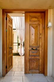 Rustic Interior Doors Spaces With Distressed Wood Doo