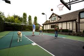 Years Of Neighbor Conflict Over Children Playing Basketball Leads ... Triyae Asphalt Basketball Court In Backyard Various Design 6 Reasons To Install A Synlawn Home Decor Amazing Recreational Lighting Full 4 Poles Fixtures A Custom Half For The True Lakers Snapsports Outdoor Courts Game Millz House Cost Australia Home Decoration Residential Gallery News Good Carolbaldwin Multisport System Photo Diy Stencil Hoops Blog Clipgoo Modern