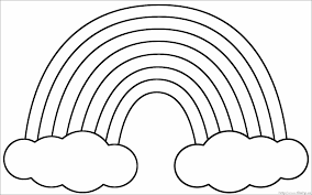 Rainbow Coloring Pages And