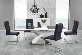 100 White Gloss Extending Dining Table And Chairs Amusing Oval Off Room Black
