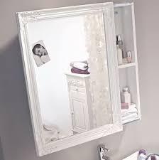 weiß lackierter spiegelschrank mit schiebetür schrank