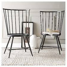 14249 On Sale Norfolk High Windsor Dining Chair Metal Black Set Of 2