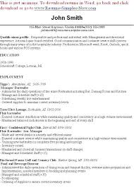 Server And Bartender Resume For Nonsensical Resumes Great