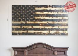 Designs Vintage American Flag Wall Art Plus Rustic Regarding